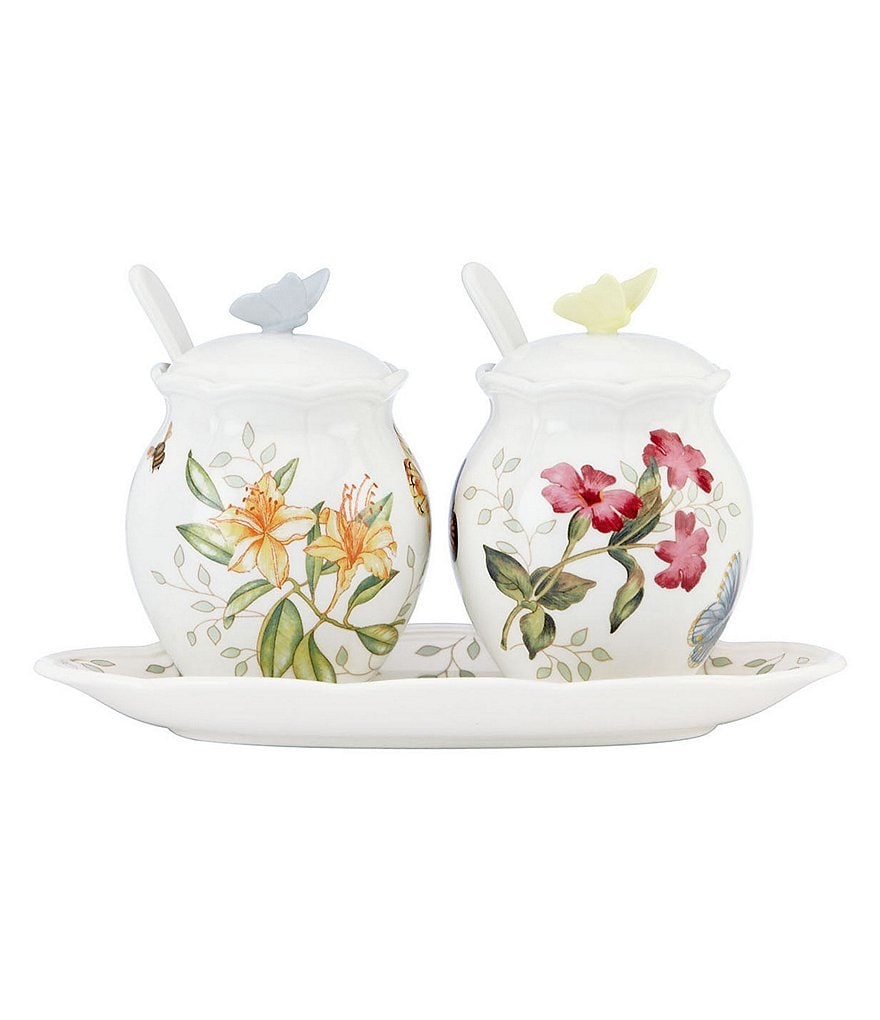 Lenox Butterfly Meadow 7-Piece Porcelain Condiment Set
