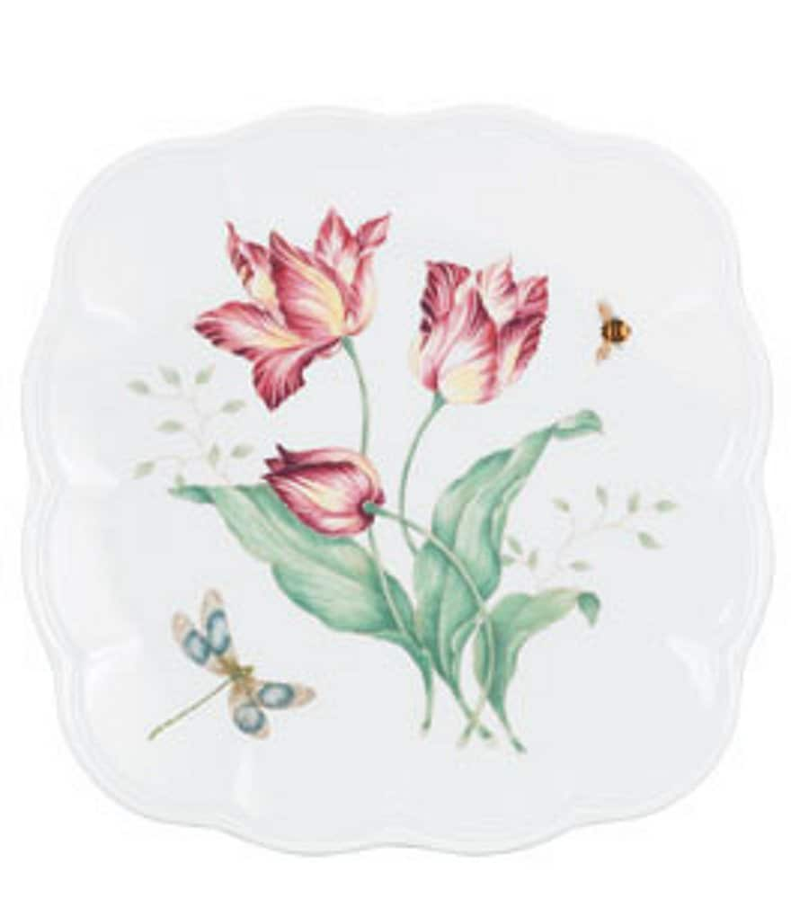 Lenox Butterfly Meadow Square Accent Salad Plate