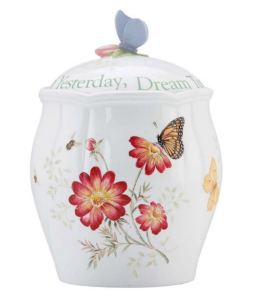 Lenox Butterfly Meadow Sentiment Cookie Jar