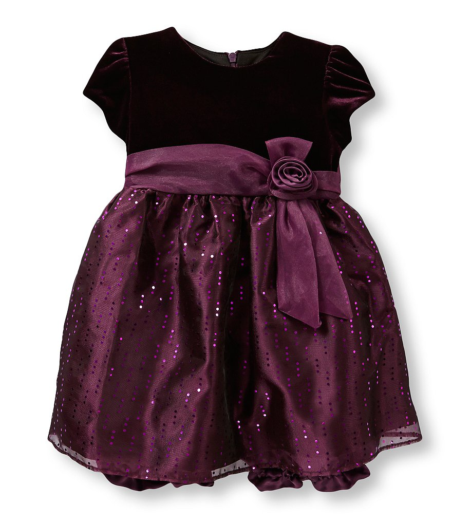 Jayne Copeland 12-24 Months Velvet Dress