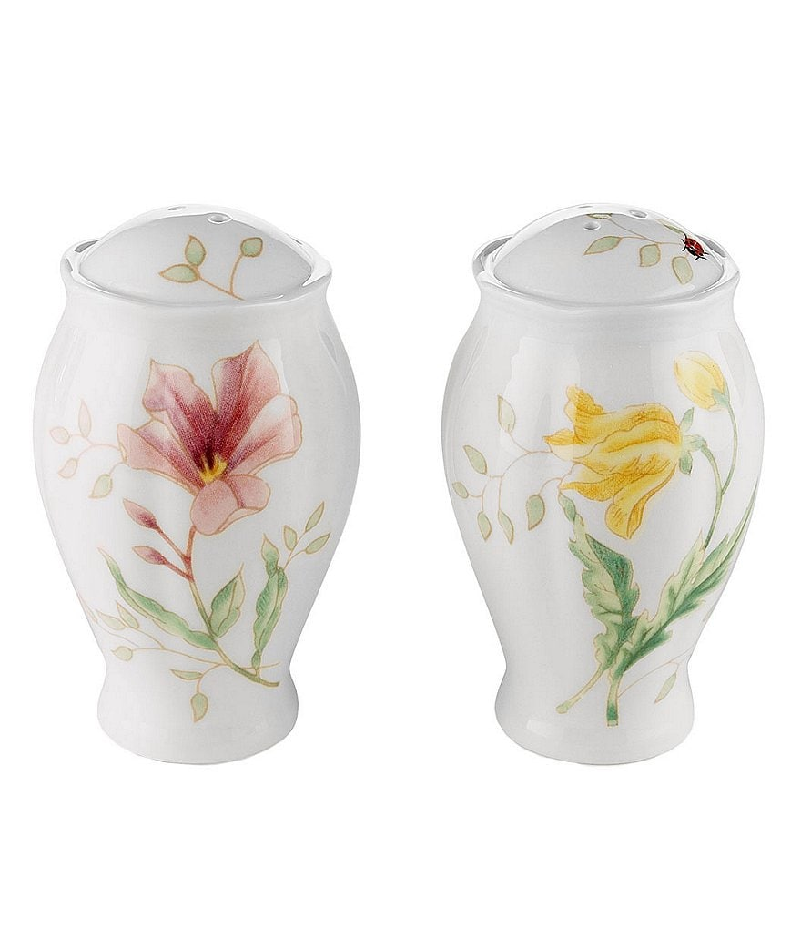 Lenox Butterfly Meadow Porcelain Salt & Pepper Shaker Set