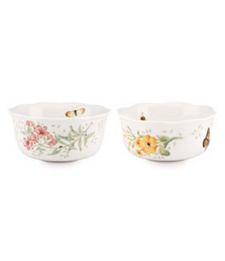 Lenox Butterfly Meadow Porcelain Nesting Bowls, Set of 2