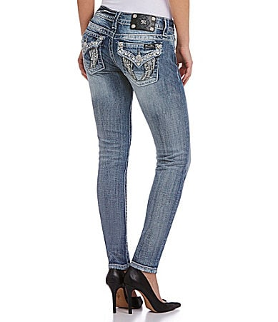 Miss Me Wing Pocket Skinny Jeans