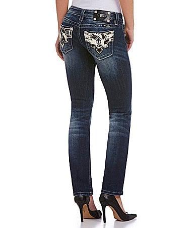 Miss Me Western Straight-Leg Jeans