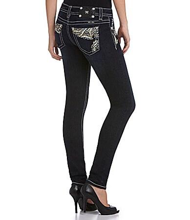 Miss Me Embellished-Pocket Skinny Jeans