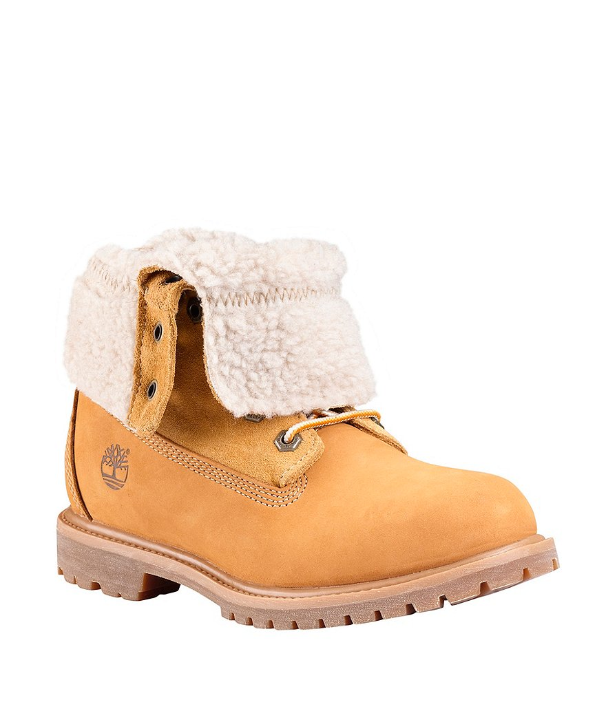 Timberland Authentics Teddy Fleece Waterproof Fold-Down Cold Weather Combat Boots