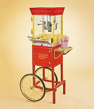 Nostalgia Electrics Vintage Collection Old Fashioned Movie Time Popcorn Cart
