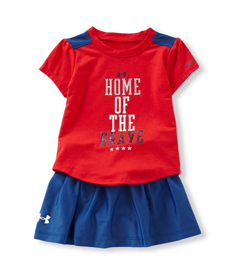 Under Armour 12-24 Months Short-Sleeve Tee & Skirt Set