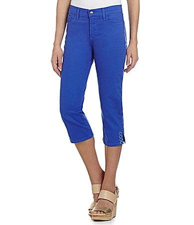NYDJ Ariel Eyelet Cropped Jeans
