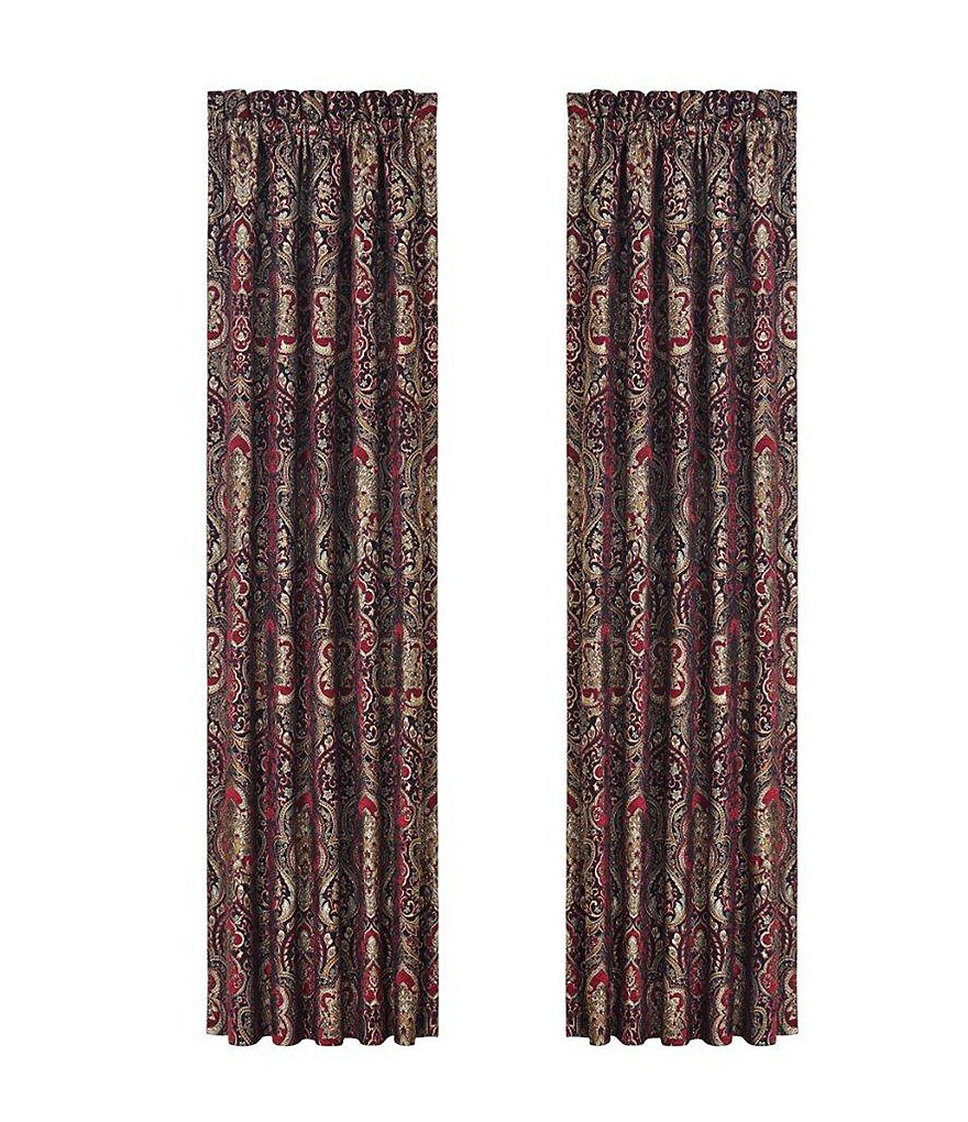 J. Queen New York Roma Damask Chenille Window Treatments