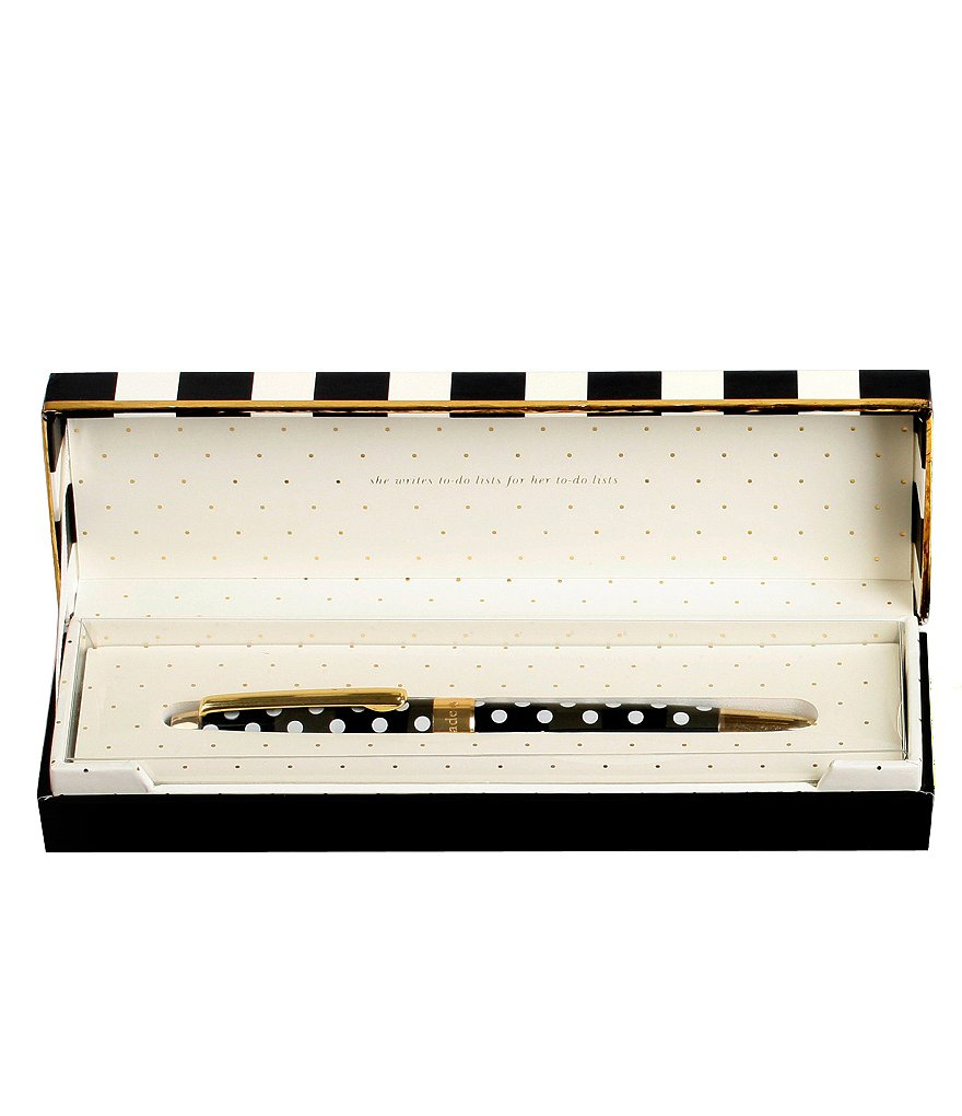 kate spade new york To Do List Boxed Polka-Dot Ballpoint Pen