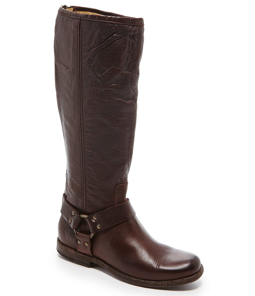 Frye Phillip Harness Wide Calf Riding Boots