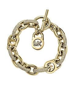 Michael Kors Pave Link MK Toggle Bracelet