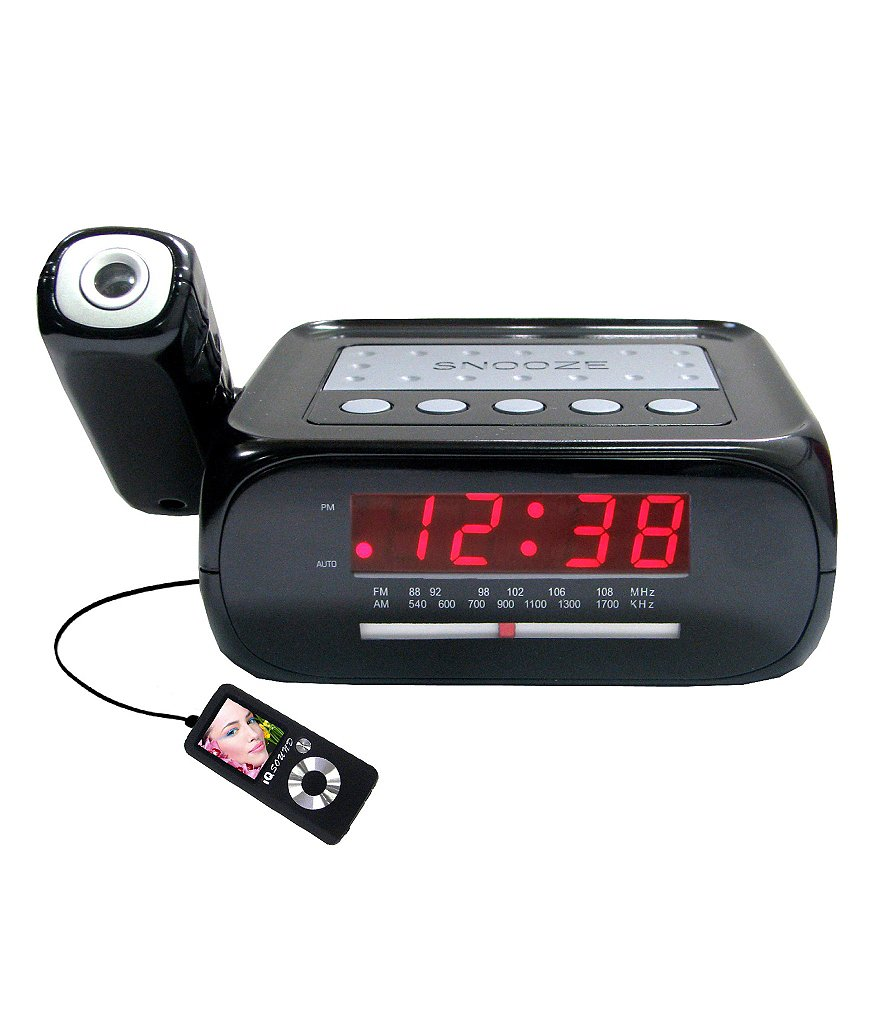 Supersonic Digital-Projection Alarm Clock with AM/FM Radio & AUX Input