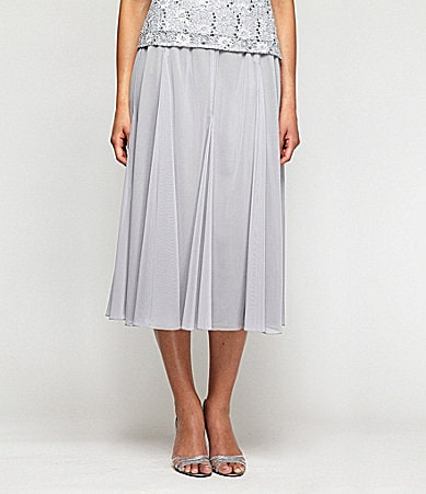 Alex Evenings Mesh Skirt