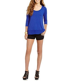 GB 3/4-Sleeve Knit Top