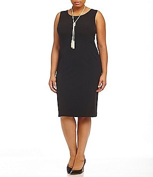 Kasper Plus Stretch Crepe Dress