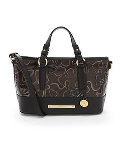 Brahmin Umbria Collection Mini Asher Floral Embossed Satchel