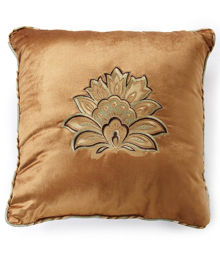 J. Queen New York Barcelona Medallion Velvet Square Pillow