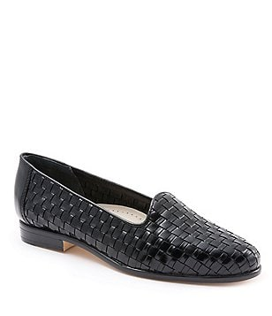Trotters Liz Woven Leather Slip-On Loafers