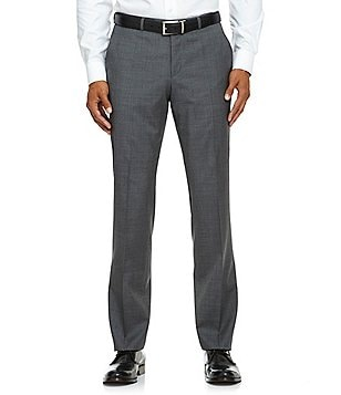 BOSS Hugo Boss Tailored Sharp-Fit Flat-Front Wool Dress Pants