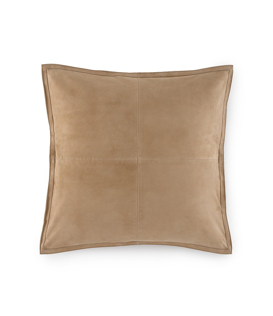Ralph Lauren Leeds Suede Square Pillow