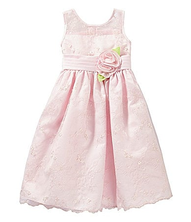 Sweet Heart Rose 2T-6X Floral Embroidery Special Occasion Dress