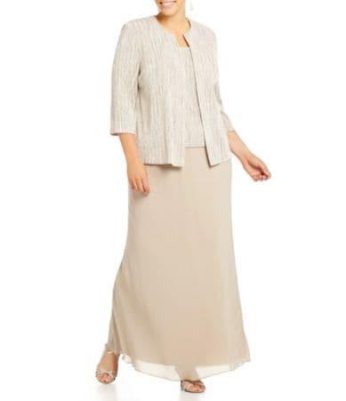 Plus size dress separates