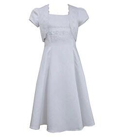Bonnie Jean 7-12 Embroidered-Trim Jacket & Communion Dress