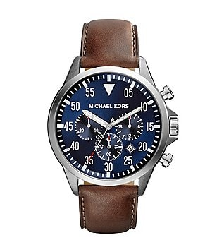 Michael Kors Men´s Gage Leather Strap Chronograph Watch