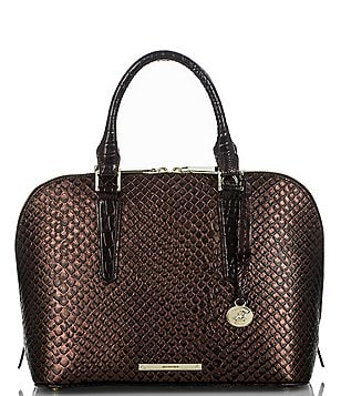 Brahmin Java Collection Vivian Embossed Dome Satchel