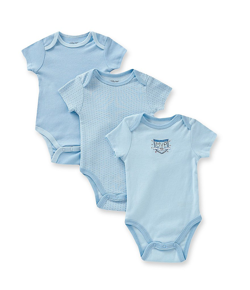 Little Me Baby Boys Newborn-9 Months MVP 3-Pack Bodysuits