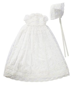 Laura Ashley London Baby Girls Newborn-6 Months Christening Gown