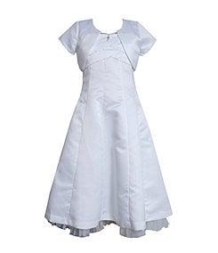 Bonnie Jean 7-16 Faux-Pearl-Trimmed Bolero Jacket & Dress Set
