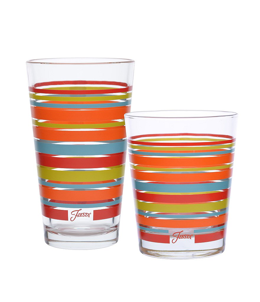 Fiesta Poppy Stripe Drinkware