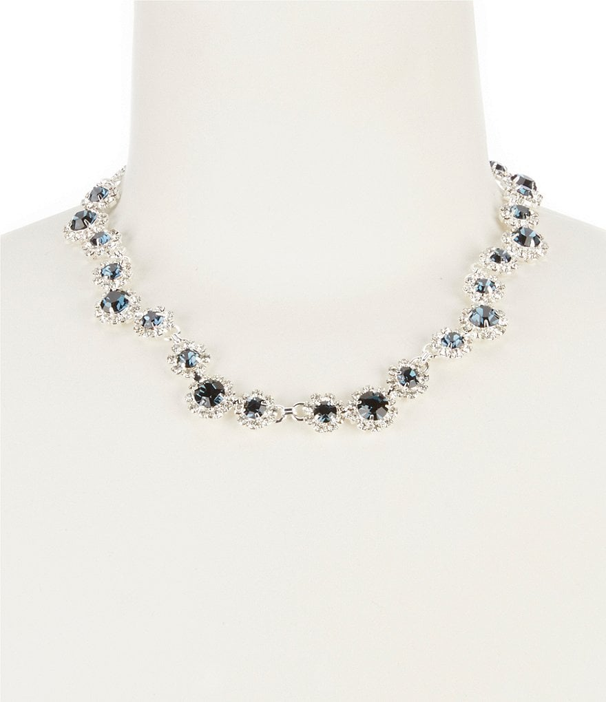 Cezanne Rhinestone Daisy Collar Necklace