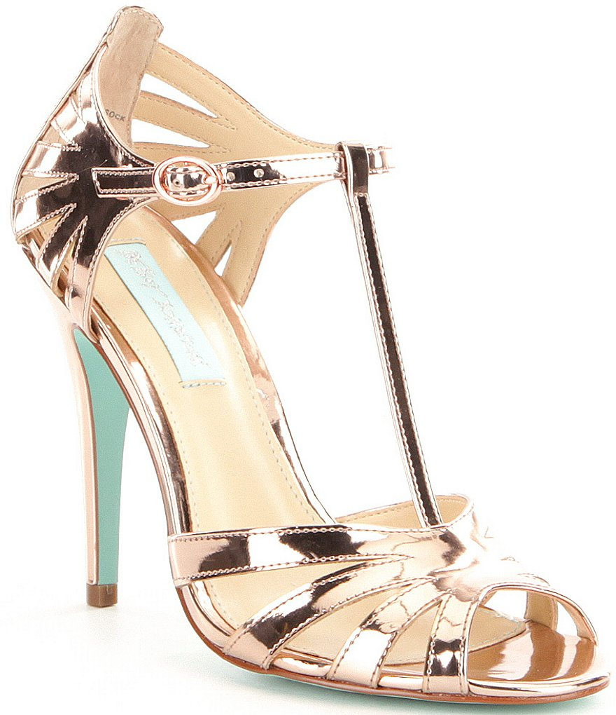 Blue by Betsey Johnson Tee Metallic Dress Sandals