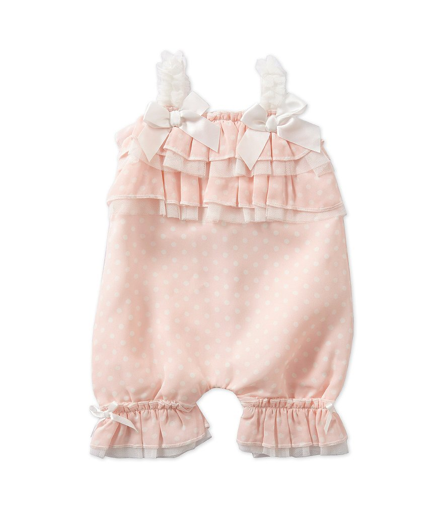 Starting Out Treasures Baby Girls Newborn-6 Months Dotted Romper