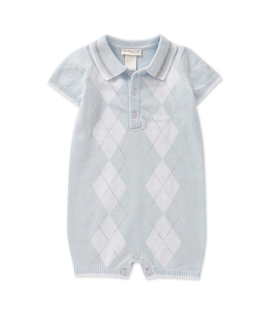 Starting Out Treasures Baby Boys Newborn-6 Months Argyle Sweater Romper