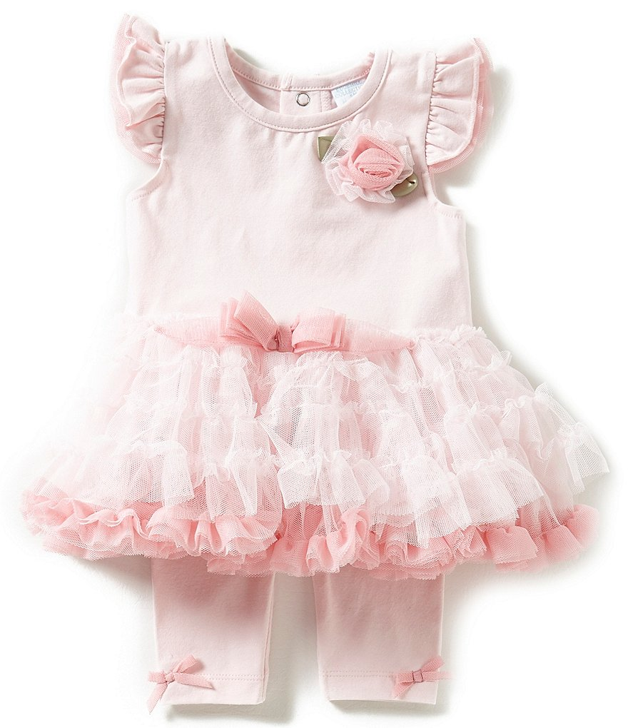 Starting Out Treasures Baby Girls Newborn-6 Months Tutu Bodysuit & Legging Set