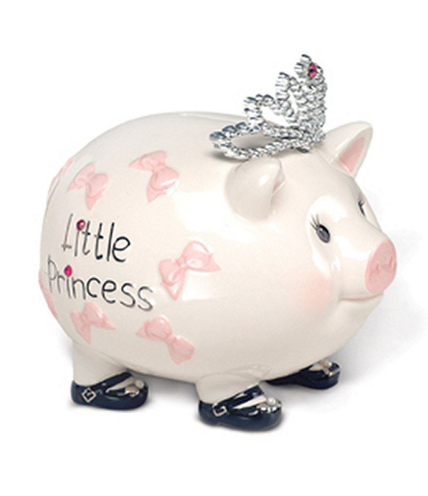Mud Pie Giant Princess Pig Bank