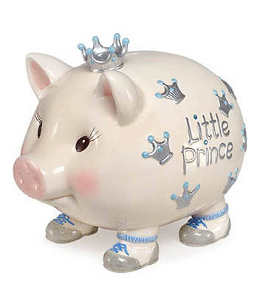 Mud Pie Lil Prince Giant Pig Bank
