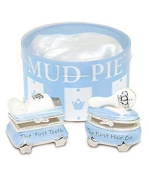 Mud Pie Prince Tooth & Curl Treasure Box Set