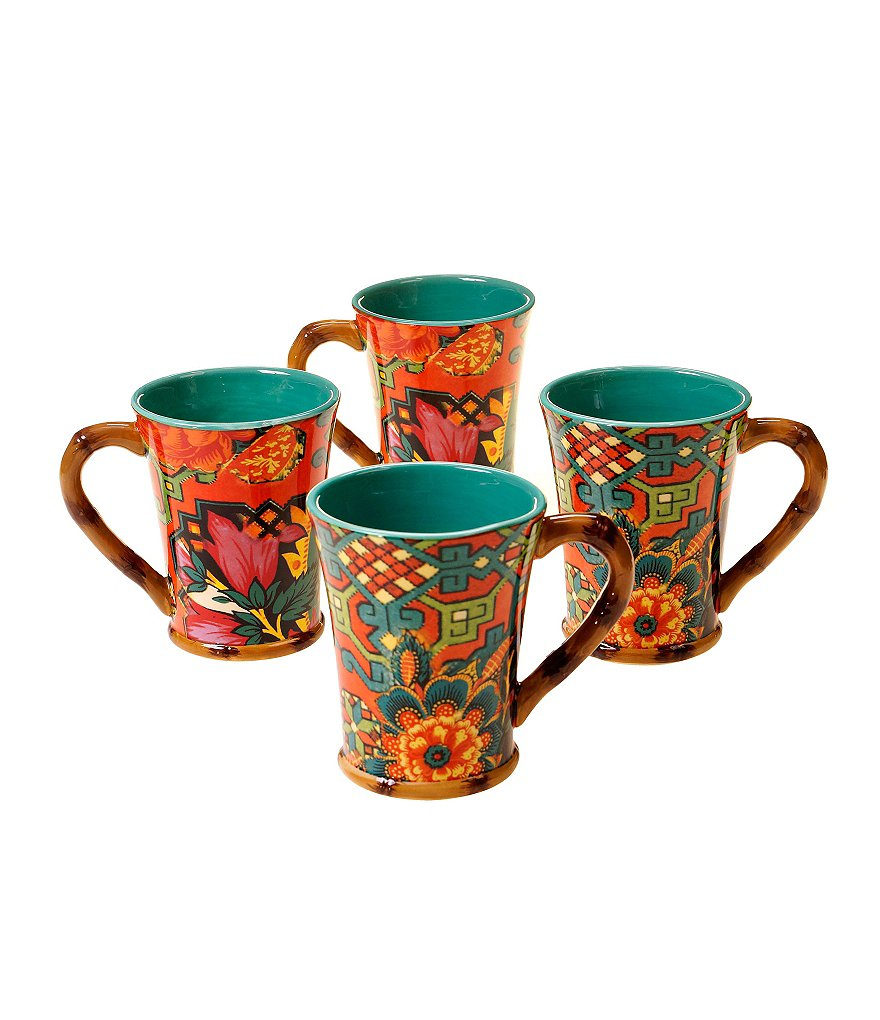 Poetic Wanderlust™ by Tracy Porter Eden Ranch Mugs, Set of 4