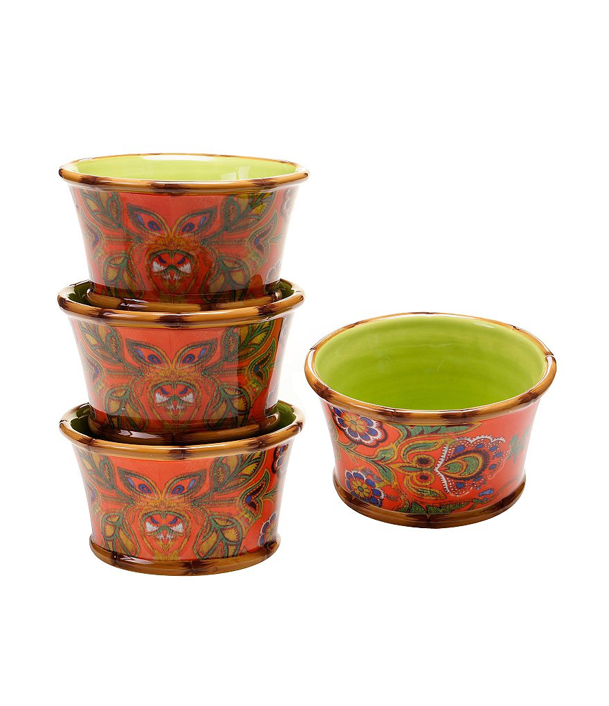 Poetic Wanderlust™ by Tracy Porter Eden Ranch Floral Dessert Bowls, Set of 4