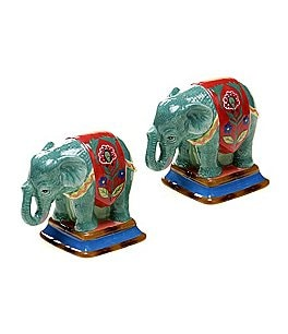 Poetic Wanderlust™ by Tracy Porter Eden Ranch Elephant Salt & Pepper Shaker Set Image