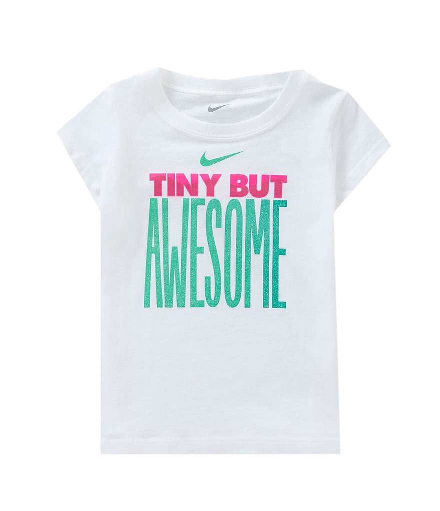 Nike Baby Girls 12-24 Months Tiny But Awesome Short-Sleeve Tee