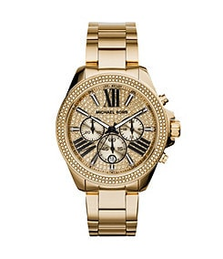 Michael Kors Crystal Glitz Wren Goldtone Watch