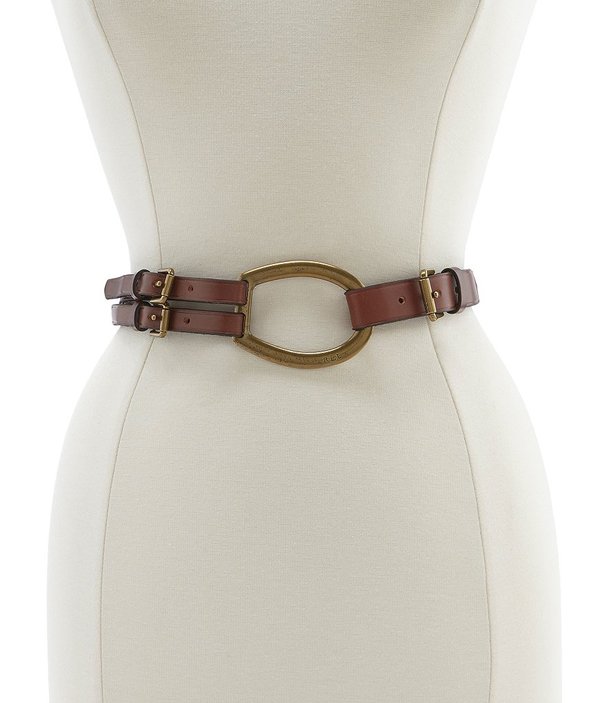 Lauren Ralph Lauren Tri-Strap Leather Belt