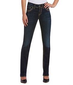 Silver Jeans Co. Suki Mid-Rise Straight-Leg Jeans